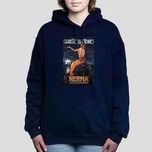 1920s vintage cigarettes Women's Hooded Sweatshirt