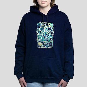 Colorful Hippie Art Women's Hooded Sweatshirt