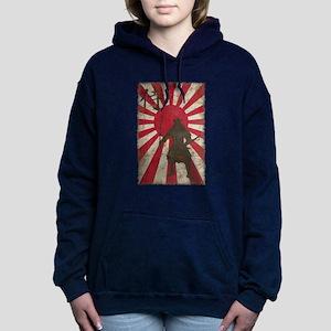 Vintage Samurai Women's Hooded Sweatshirt