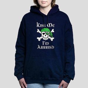 Irish Pirate - Kiss Me I Women's Hooded Sweatshirt