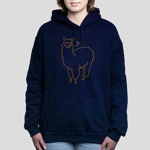 Cute Alpaca Women's Hooded Sweatshirt