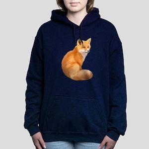 animals fox Women's Hooded Sweatshirt