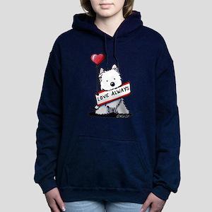 Love Always Westie Women's Hooded Sweatshirt