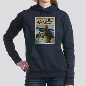 Vintage poster - Sun Val Women's Hooded Sweatshirt