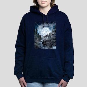 spirt of the wolf Women's Hooded Sweatshirt