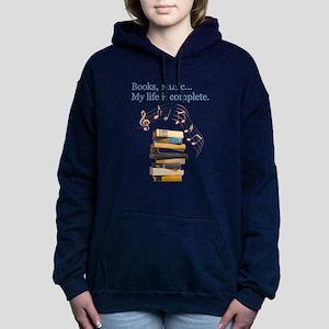 Books and music Sweatshirt