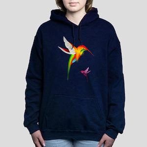 Colorful Hummingbirds Bi Women's Hooded Sweatshirt
