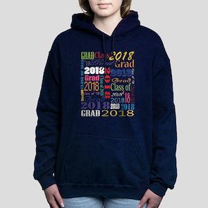 2018 Graduation Typograp Women's Hooded Sweatshirt