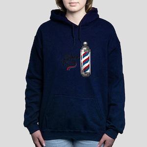 Barber Is In Women's Hooded Sweatshirt