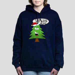 Christmas Tree Harassmen Women's Hooded Sweatshirt