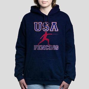 USA Fencing Women's Hooded Sweatshirt