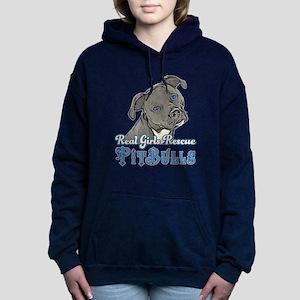 Real Girls Rescue Pitbulls Hooded Sweatshirt