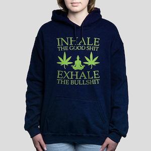 Yoga: Inhale the good shit Women's Hooded Sweatshi
