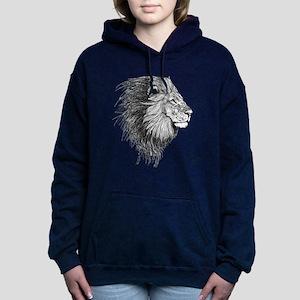Lion (Black and White) Hooded Sweatshirt