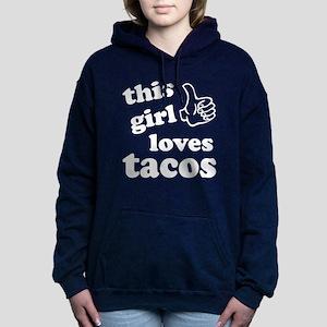 This girl loves tacos Women's Hooded Sweatshirt