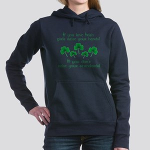 Raise Your Hands for Irish Girls Hooded Sweatshirt