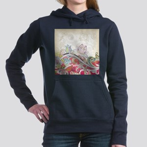Abstract Floral Women's Hooded Sweatshirt