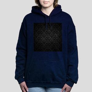 Elegant Black Women's Hooded Sweatshirt