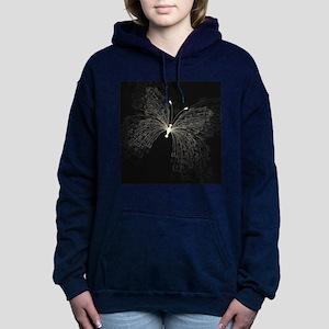 Elegant Butterfly Women's Hooded Sweatshirt