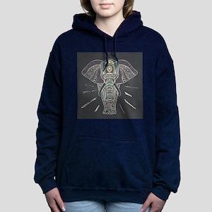 Indian Elephant Women's Hooded Sweatshirt