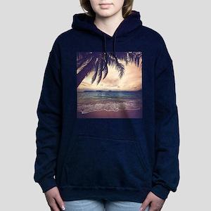 Tropical Beach Women's Hooded Sweatshirt