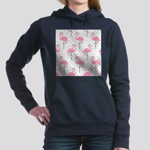 Cute Flamingo Women's Hooded Sweatshirt