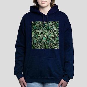 Forest Pattern Women's Hooded Sweatshirt