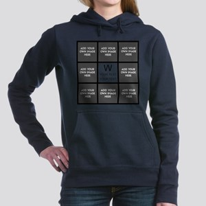 Custom Photo Collage Women's Hooded Sweatshirt