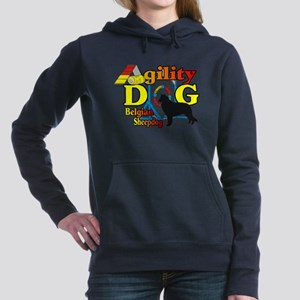 Belgian Sheepdog Agility Women's Hooded Sweats