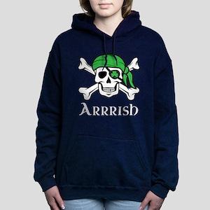 Irish Pirate - Arrrish Women's Hooded Sweatshirt