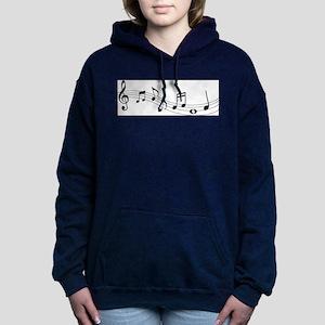 Music Notes Women's Hooded Sweatshirt