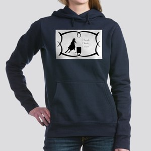 Barrel Racing 3 barrels Women's Hooded Sweatshirt