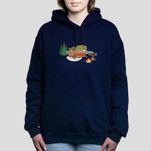 Camping Trailer Women's Hooded Sweatshirt