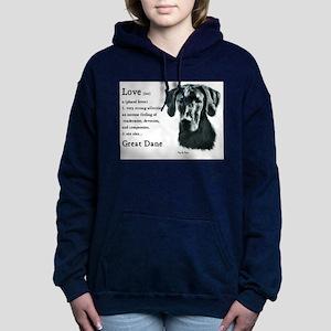 black great dane love is 1 Hooded Sweatshirt