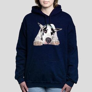 Great Dane Shy Harlequin Women's Hooded Sweatshirt
