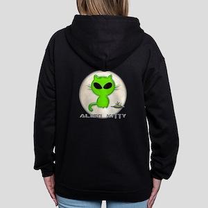 alien kitty Zip Hoodie