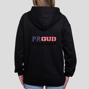 Proud Deplorable Women's Zip Hoodie