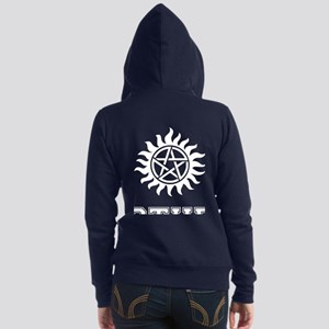 SUPERNATURAL Winchester Brothers White Zip Hoodie