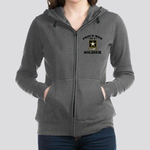 Proud U.S. Army Mom Women's Zip Hoodie