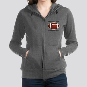 Personalized Football Women's Zip Hoodie