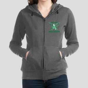 I Wear Green for my Brother Women's Zip Hoodie