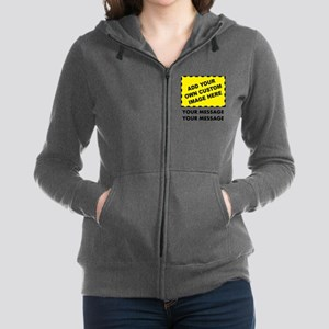 Custom Image & Message Women's Zip Hoodie