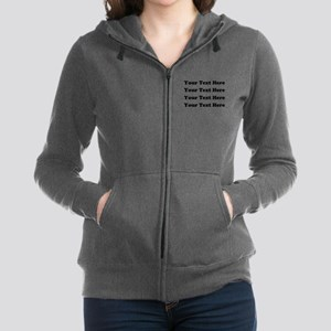 Custom add text Women's Zip Hoodie