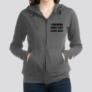 I Survived Personalize It! Women's Zip Hoodie
