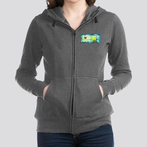i love vintage tennis Women's Zip Hoodie
