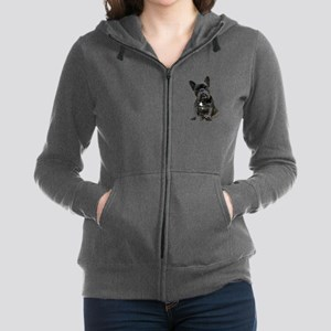 French Bulldog Puppy Portrait Women's Zip Hoodie