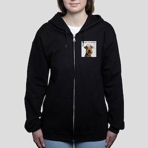 Airedale Terrier Stubborn Sayings Hoodie Sweatshir
