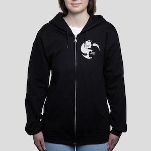 Cat yin yang T-shirt Women's Zip Hoodie