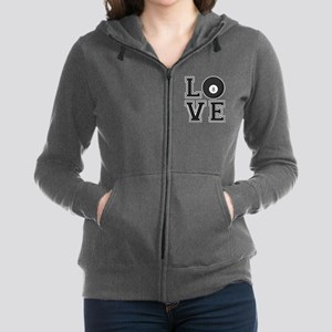 Love Pool / Billiards Women's Zip Hoodie