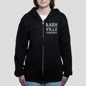 Nashville Tennessee Women's Zip Hoodie